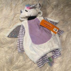 Infant plush unicorn pullover costume (G)